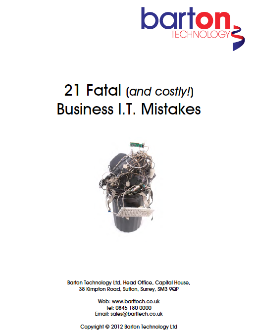 Enter your details below to download your free copy of 21 Fatal Business IT Mistakes: